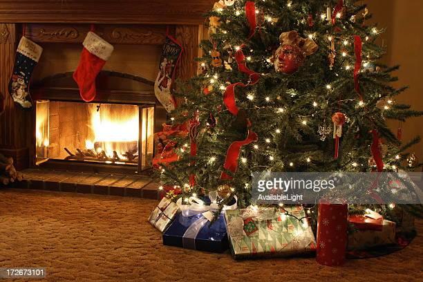 Xmas Tree and Fireplace