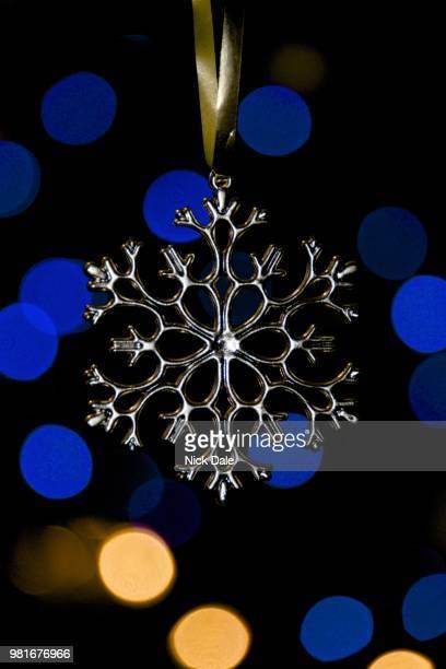 Xmas tree snowflake with bokeh lights