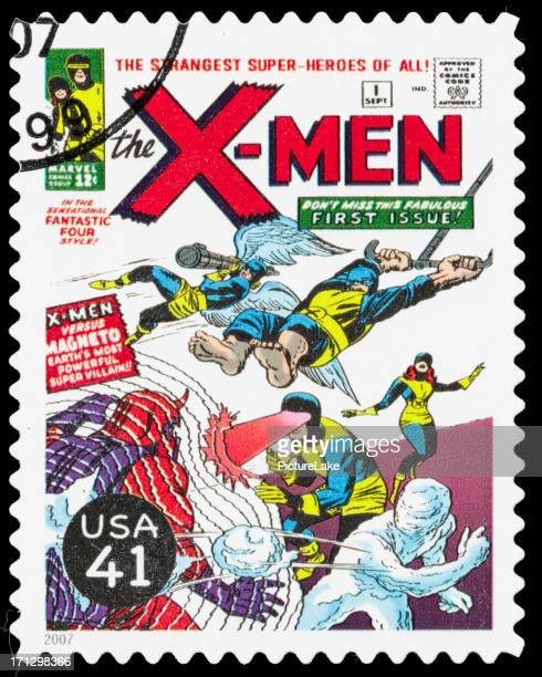 usa x-men comic book cover postage stamp - x men named work stock pictures, royalty-free photos & images