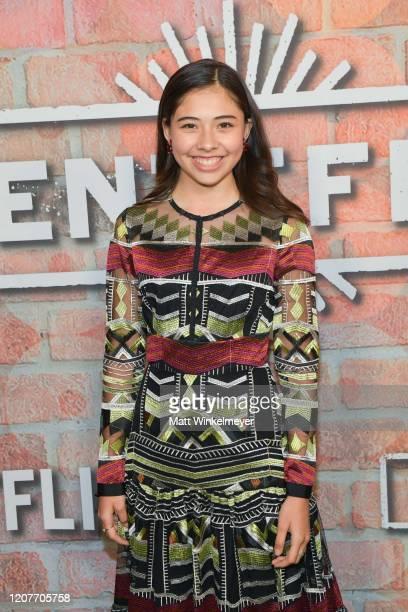 Xochitl Gomez attends the premiere of Netflix's Gentefied at Plaza de la Raza on February 20 2020 in Los Angeles California