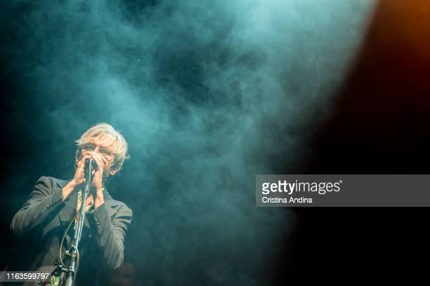 Xoel López perfoms on stage on July 21, 2019 in Santiago de Compostela, Spain.
