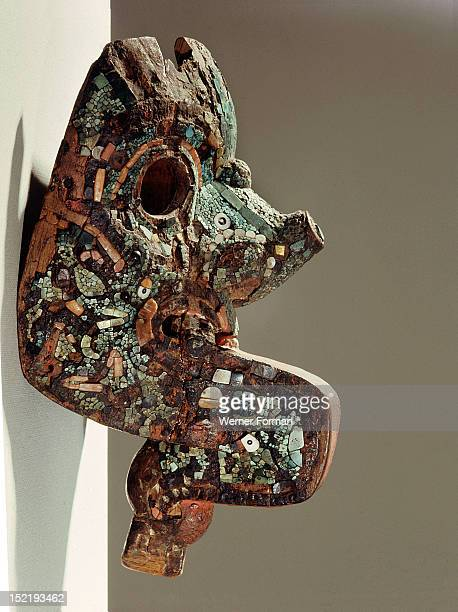 Xolotl sinister twin of Quetzalcoatl was the planet Venus as Evening Star This mask represents him in ugly and evil form Mexico Aztec