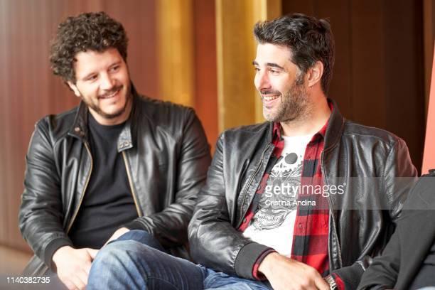Xosé Antonio Tourinán and David Amor attend EMHU press conference at Colon Theatre on April 4 2019 in A Coruna Spain
