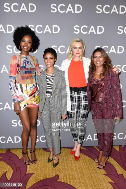 Xosha Roquemore, Tiffany Boone, Elaine Hendrix and Lisa Vidal attend SCAD aTVfest 2020 - Wonder Women: Acting For Television Presented By...
