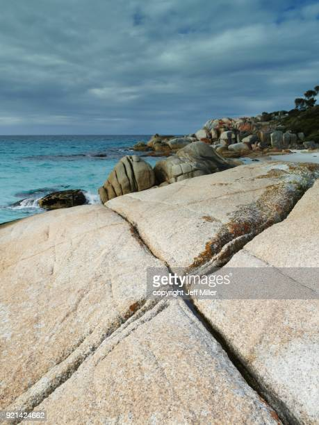 X-pattern on granite outcrop, Bay of Fires, Tasmania