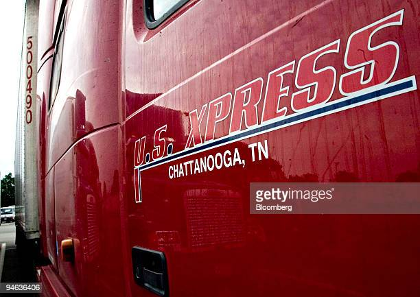 S Xpress Enterprises Ltd tractor trailer sits parked at a rest area off the New Jersey Turnpike in Ridgefield New Jersey on June 9 2007 The trucking...