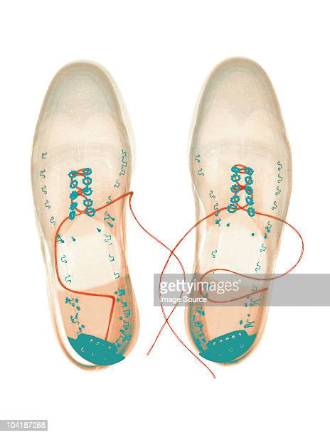 Xray image of shoes