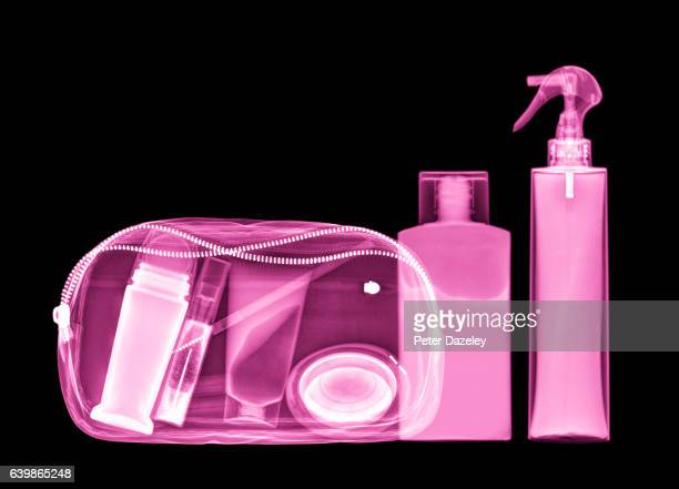 X-ray of cosmetic make up bag