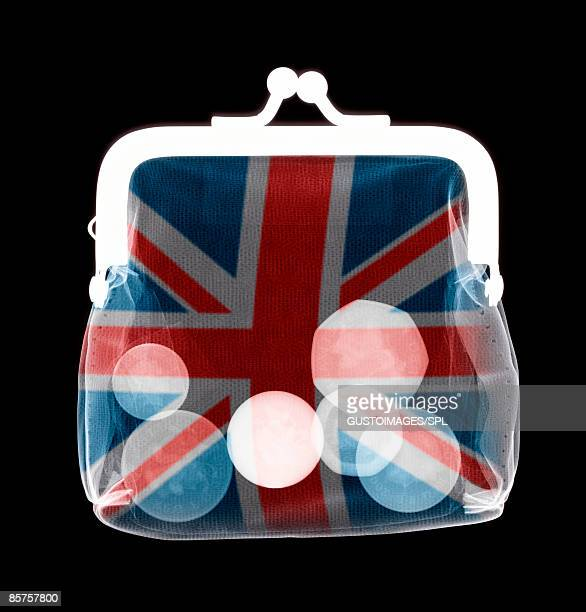 X-ray of purse containing British coins