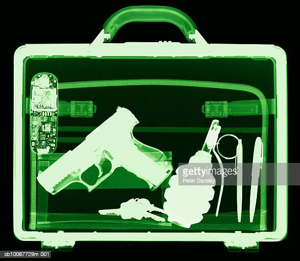 x-ray of suitcase, close-up - terrorism stock pictures, royalty-free photos & images