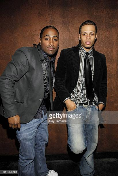 Xtreme group members Danny D and Steve Styles attend Julio Voltio's Claro De Luna Video Shoot January 24 2007 in New York City