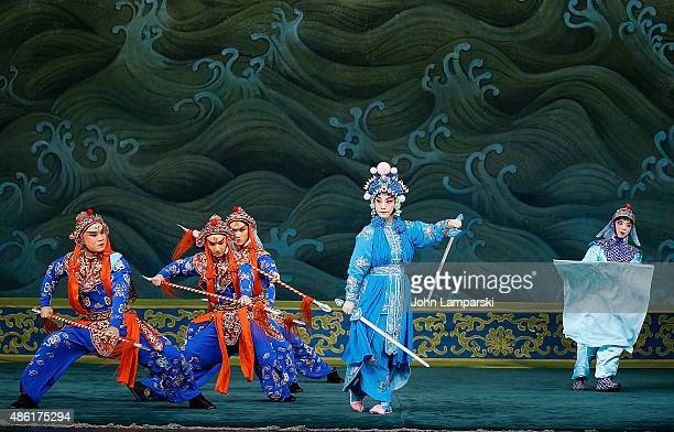 Xu Chang of the Peking Opera performs during Legend Of The White Snake and The Jewelry Purse Preview at David H Koch Theater Lincoln Center on...