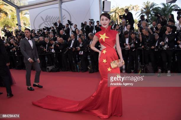 Xu Dabao arrives for the screening of the film 'Les Fantomes dIsmael' out of competition and the Opening Ceremony of the 70th annual Cannes Film...