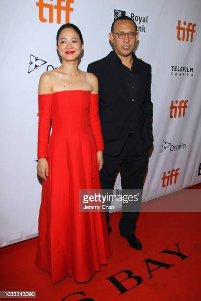 Xu Qing and Jiang Wen attend the 'Hidden Man' premiere during 2018 Toronto International Film Festival at Roy Thomson Hall on September 14 2018 in...