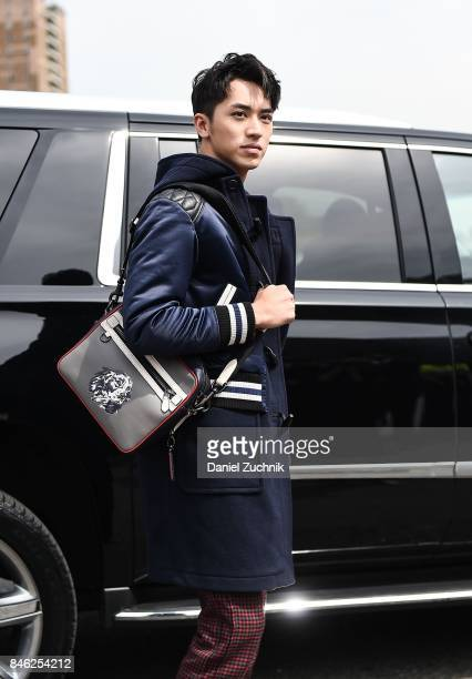 Xu Weizhou aka Timmy Xu is seen outside the Coach show during New York Fashion Week Women's S/S 2018 on September 12 2017 in New York City
