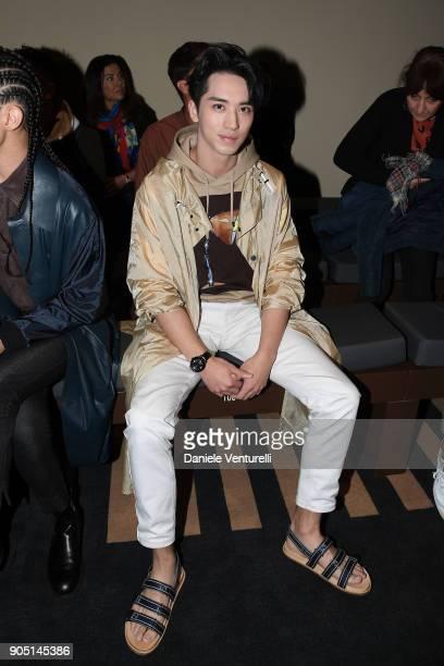 Xu Weizhou attends the Fendi show during Milan Men's Fashion Week Fall/Winter 2018/19 on January 15 2018 in Milan Italy