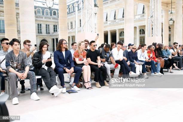 Xu Weizhou, Will Peltz, Ben Robson, Louis Vuitton's executive vice president Delphine Arnault, Hidetoshi Nakata, Victor Cruz, Gong Yoo, Chief...
