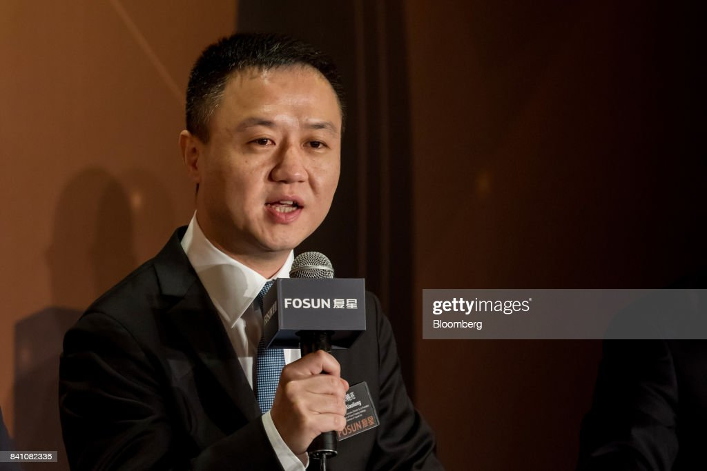 Xu Xiaoliang, co-president of Fosun International Ltd., speaks during a news conference in Hong Kong, China, on Thursday, Aug. 31, 2017. Fosun, the listed flagship ofChinese billionaireGuo Guangchang's insurance-to-drugs conglomerate, reported first-half net income increased 34 percent amid higher returns from investments. Photographer: Paul Yeung/Bloomberg via Getty Images