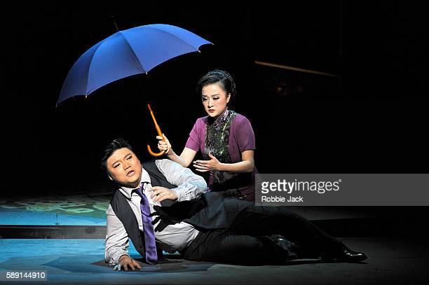 Xu Xiaoying as Fanyi and Han Peng as Zhou Ping in Shanghai Opera's production of Mo Fan's Thunderstorm directed by Zha Mingzhe and conducted by Zhang...