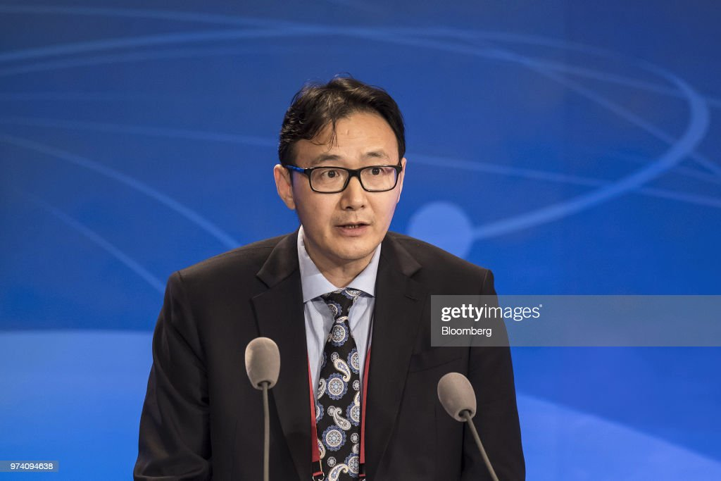 Xu Zhong, director general of the research bureau at the People's Bank of China (PBOC), speaks during the Lujiazui Forum in Shanghai, China, on Thursday, June 14, 2018. China's central bank is studying policies to boost loans to smaller firms, PBOC Governor Yi Gang said in a speech to the annual forum. Photographer: Qilai Shen/Bloomberg via Getty Images