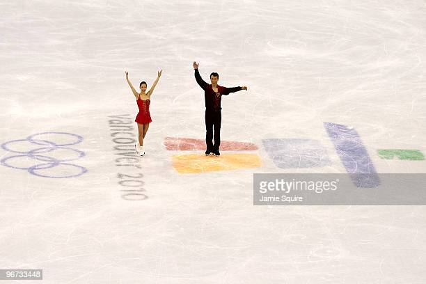Xue Shen and Hongbo Zhao of China compete in the Figure Skating Pairs Free Program on day 4 of the Vancouver 2010 Winter Olympics at the Pacific...