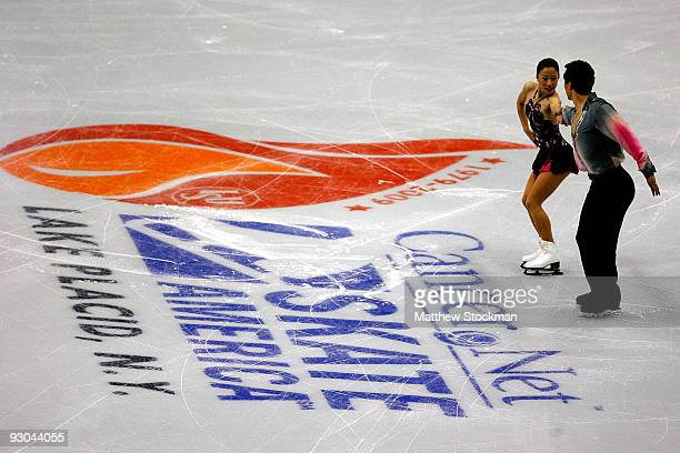 Xue Shen and Hongbo Zhao of China compete in the Pairs Short Program during the CancerNet Skate America at Herb Brooks Arena on November 13 2009 in...