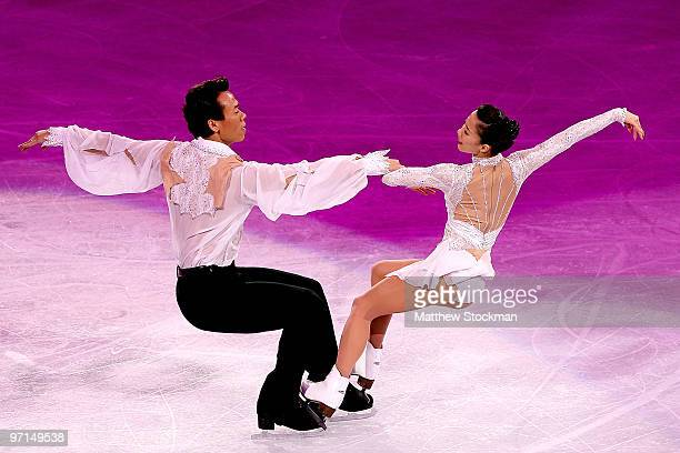 Xue Shen and Hongbo Zhao of China perform at the Exhibition Gala following the Olympic figure skating competition at Pacific Coliseum on February 27...