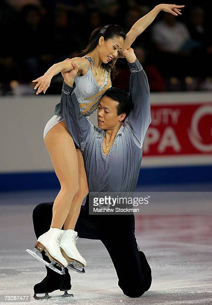 Xue Shen and Hongbo Zhao of China perform in an exhibition following the ISU Four Continents Figure Skating Championships February 10 2007 in...