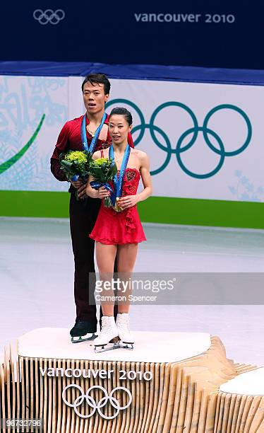 Xue Shen and Hongbo Zhao of China win the gold medal in the Figure Skating Pairs Free Program on day 4 of the Vancouver 2010 Winter Olympics at the...