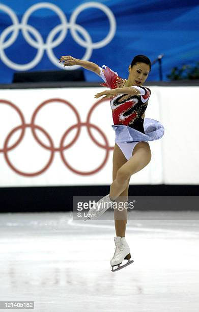Xue Shen of China skates in the Figure Skating Pairs Free Skate Program at the Palavela skating venue on February 13 2006 in Torino Italy