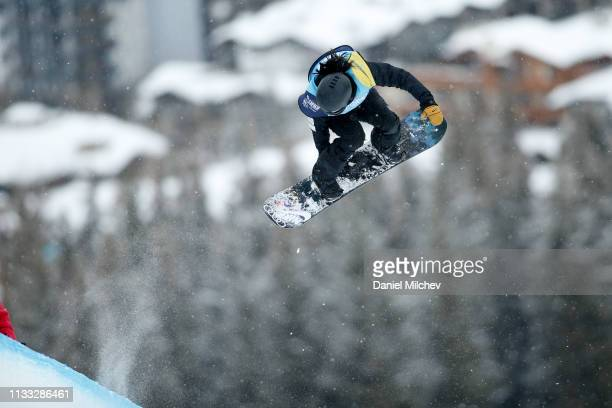 Xuetong Cai of China in action during the Women's Halfpipe finals at the Burton US Open Championships at Golden Peak on March 2 2019 in Vail Colorado