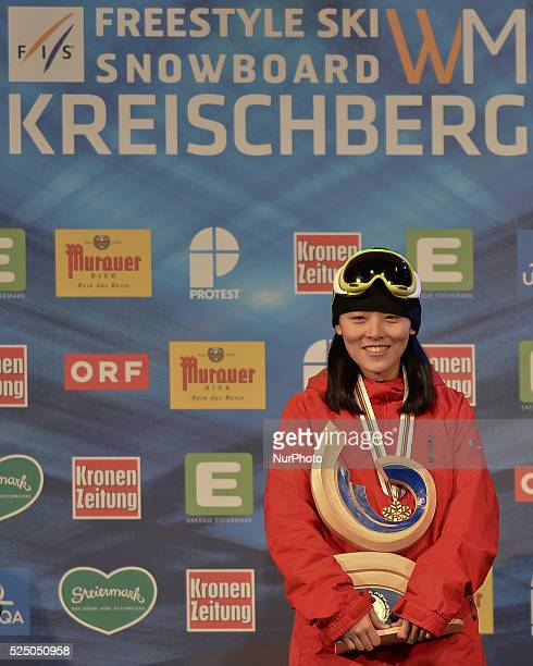 Xuetong Cai wins Ladies' Snowboard Halfpipe at FIS Snowboard World Championship 2015 in Kreischberg Austria Saturday 17 January 2015 Picture by Artur...