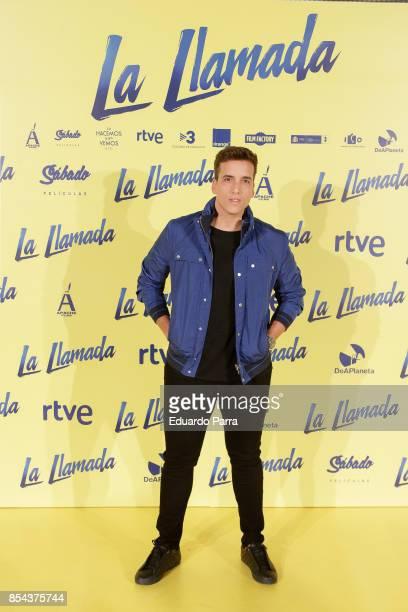 Xuxo Jones attends the 'La Llamada' premiere at Capitol cinema on September 26 2017 in Madrid Spain