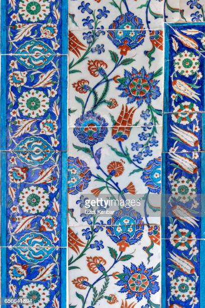 XVIth century Iznik tile panel from Sehzade Mustafa Mausoleum,The Muradiye Complex, Bursa,Turkey
