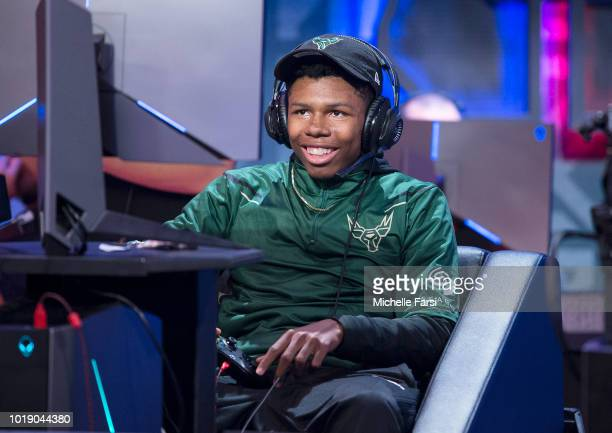 XxSTL2LAxX of Bucks Gaming reacts during the game against Mavs Gaming on August 10 2018 at the NBA 2K League Studio Powered by Intel in Long Island...