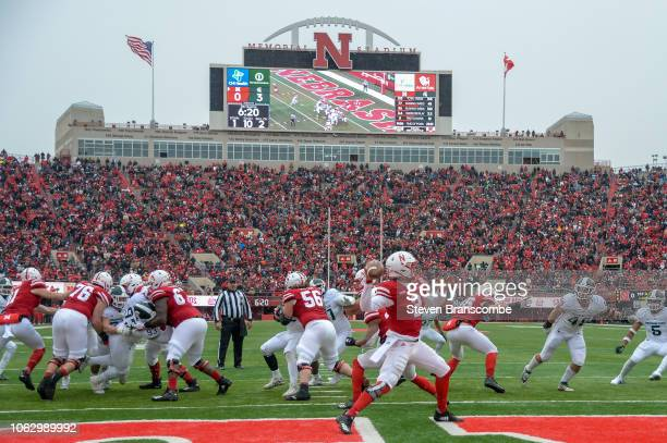 xxx at Memorial Stadium on November 17 2018 in Lincoln Nebraska