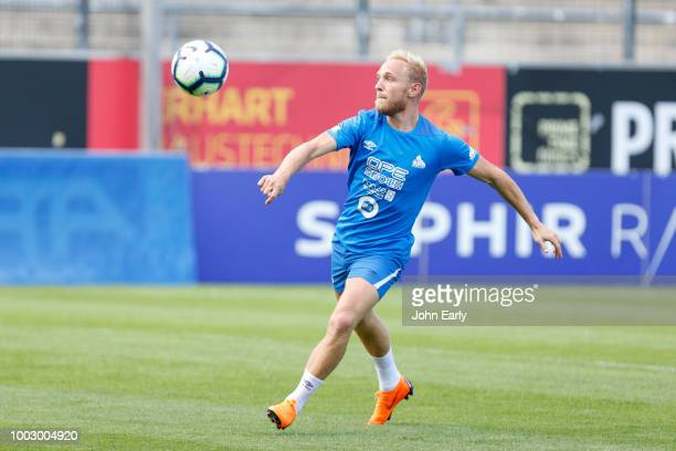 xxx during the Huddersfield Town preseason training session at the PSD Bank Arena on July 20 2018 in Frankfurt Germany
