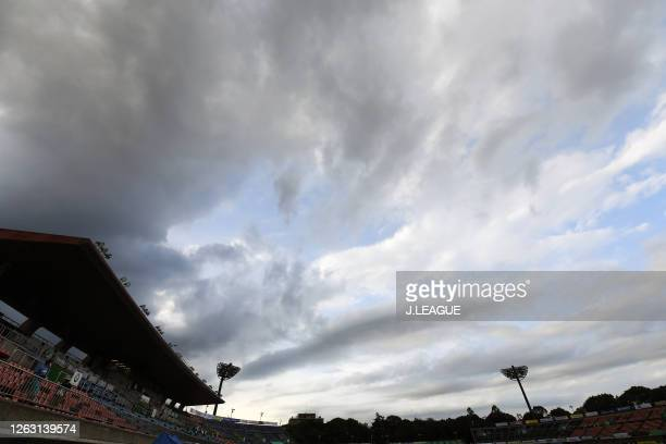 Xxx during the J.League Meiji Yasuda J1 match between Shonan Bellmare and Cerezo Osaka at the Shonan BMW Stadium Hiratsuka on August 01, 2020 in...