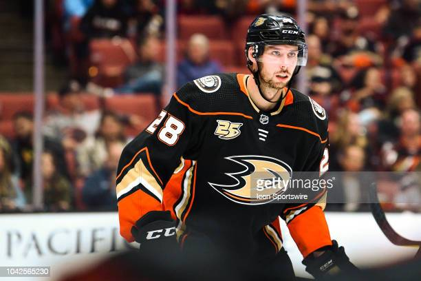 xxx in action during a NHL preseason game between the Arizona Coyotes and the Anaheim Ducks played on September 24 2018 at the Honda Center in...