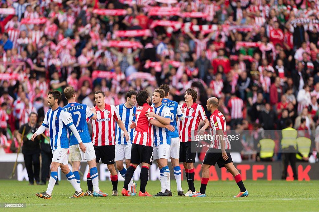 xxx in the match between Athletic de Bilbao and Re al ...