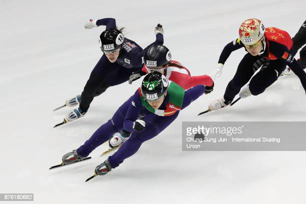 xxx of xxx performs during the Audi ISU World Cup Short Track Speed Skating at on November 19 2017 in Seoul South Korea