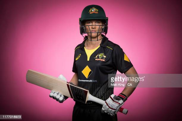xxxMeg Lanningposes during the Cricket Australia Women's National Portrait Session at NEP Studios on August 15 2019 in Sydney Australia
