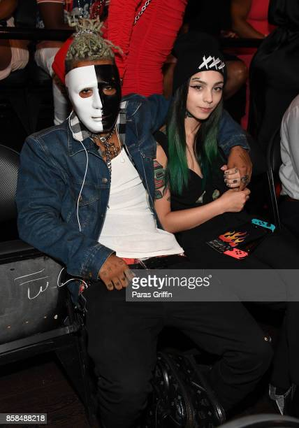 XXXTentacion attends the BET Hip Hop Awards 2017 at The Fillmore Miami Beach at the Jackie Gleason Theater on October 6 2017 in Miami Beach Florida