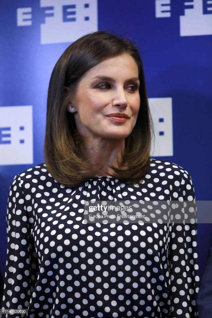 ESP: Queen Letizia Of Spain Attends 'Medios De Comunicacion Y Salud Mental' Event In Madrid