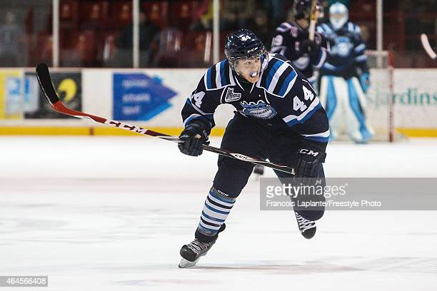 Xxxxx of the Chicoutimi Sagueneens skates against the Gatineau Olympiques during a game on February 20, 2015 at Robert Guertin Arena in Gatineau,...