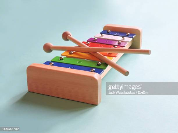 Xylophone Toy On Blue Background