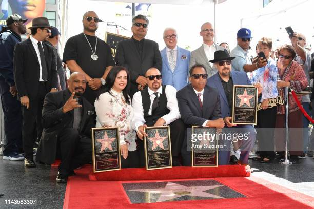 Xzibit BReal DJ Muggs Sen Dog Eric Bobo of Cypress Hill George Lopez Rana Ghadban and Mitch O'Farrell attend a ceremony honoring Cypress Hill with a...