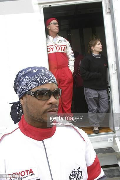 Xzibit, John Elway, and Shannon Miller during Toyota Pro/Celebrity Race Training Day - March 11, 2006 at Willow Springs Raceway in Rosamond,...