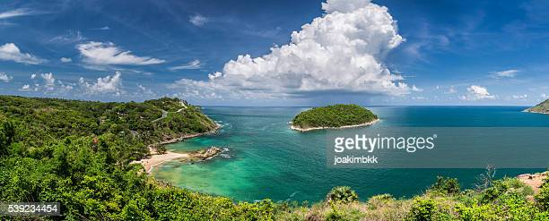ya nui beach panorama in phuket island in thailand - phuket province stock pictures, royalty-free photos & images