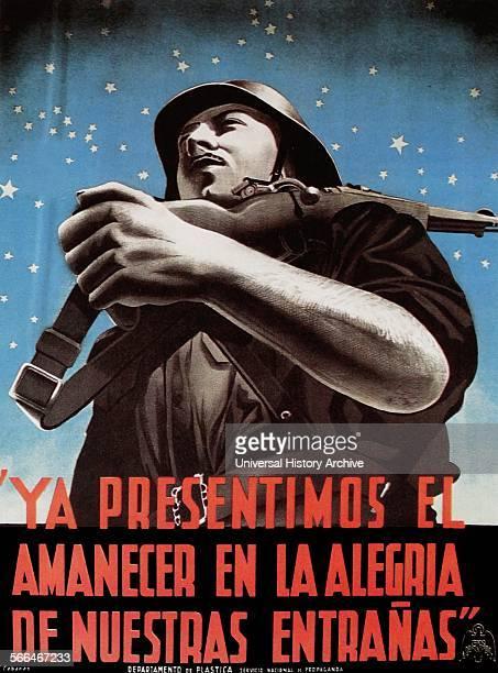 Ya Presentimos El Amanecer En La Alegria De Nuestras Entranas Nationalist propaganda poster 1939 Spanish Civil War